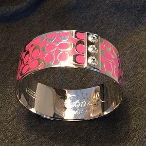 Coach Pink Wide Bangle Bracelet